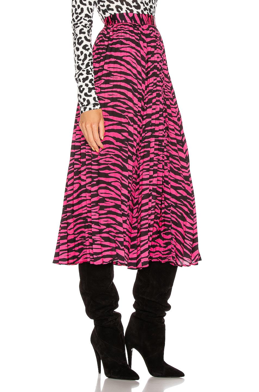 Image 2 of ANDAMANE Becky Midi Skirt in Fuchsia Zebra