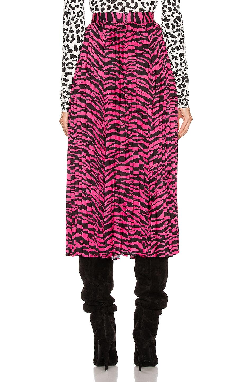 Image 3 of ANDAMANE Becky Midi Skirt in Fuchsia Zebra