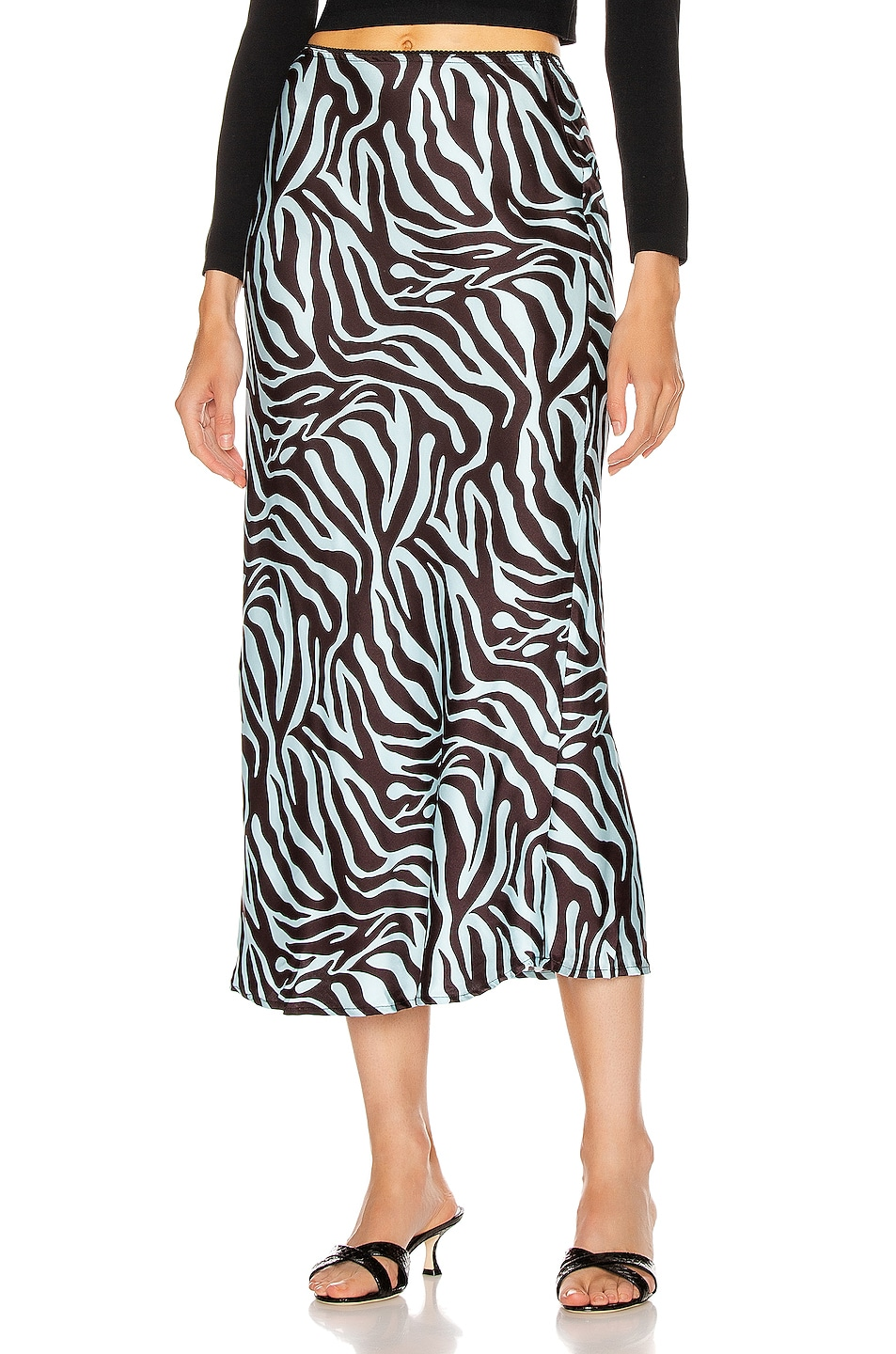 andamane bella midi skirt in zebra light blue fwrd. Black Bedroom Furniture Sets. Home Design Ideas