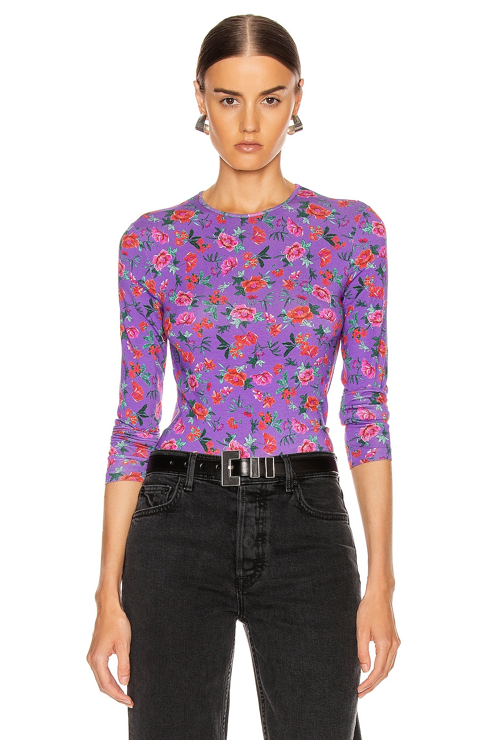 Image 1 of ANDAMANE Cornelia Top in Floral Multi Lilac
