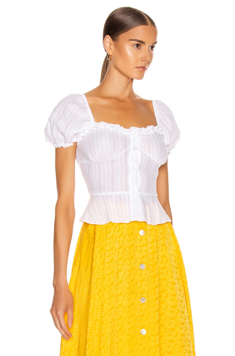 Image 3 of ANDAMANE Dana Top in White