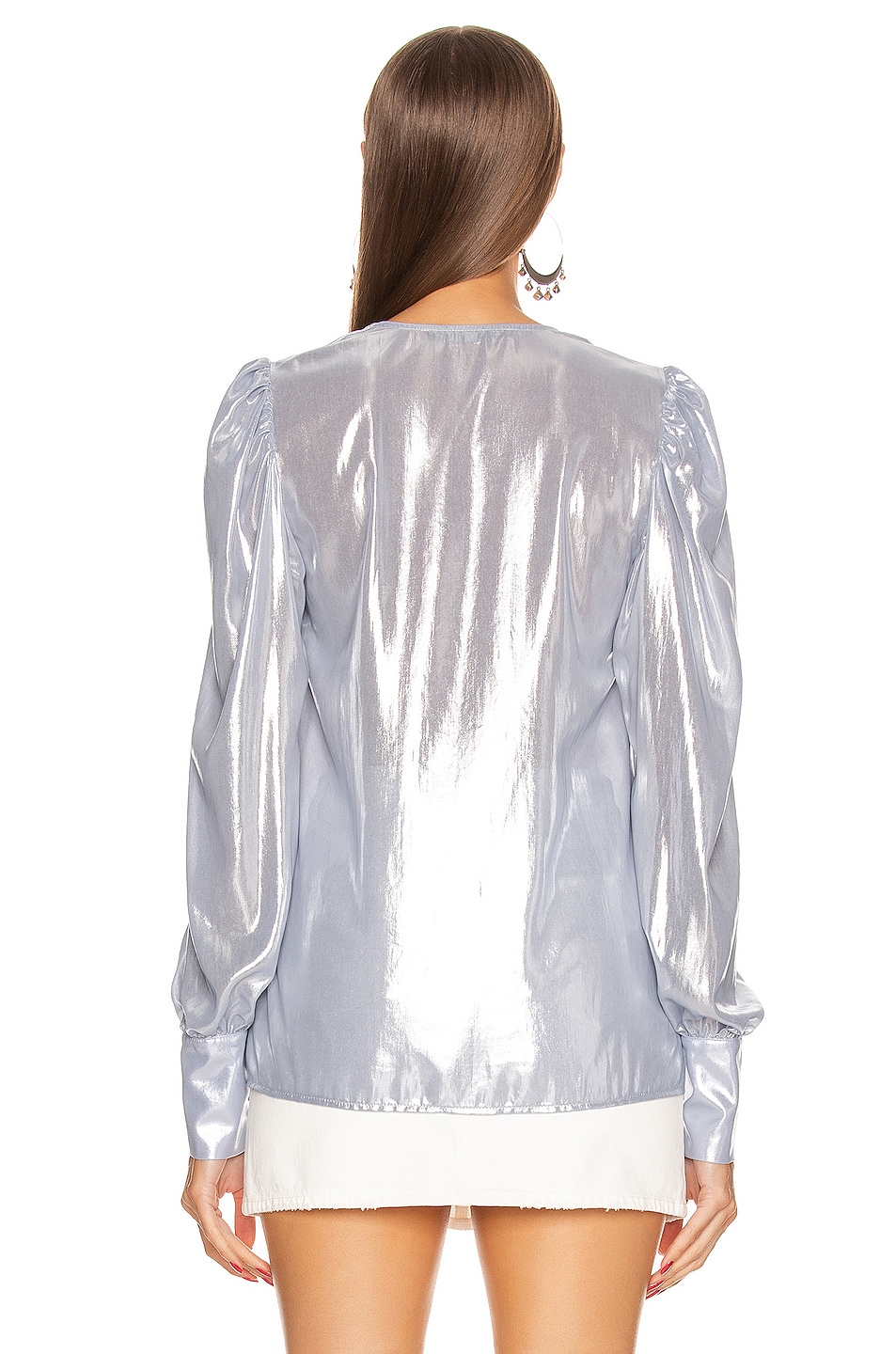 Image 3 of ANDAMANE Cecilia Shirt in Ice Silver