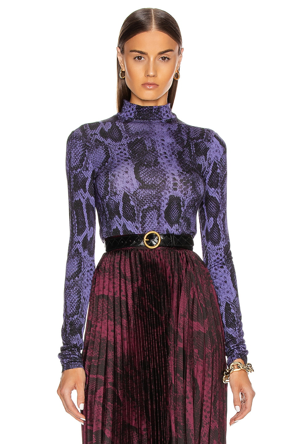 Image 1 of ANDAMANE Beth Top in Lilac Snake