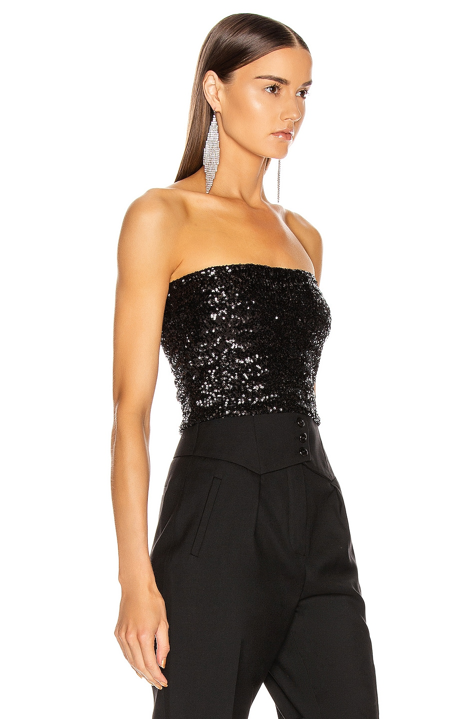 Image 2 of ANDAMANE Britney Strapless Top in Black