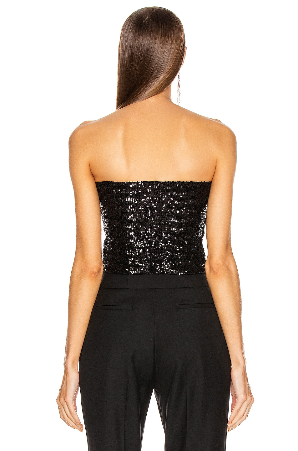Image 3 of ANDAMANE Britney Strapless Top in Black