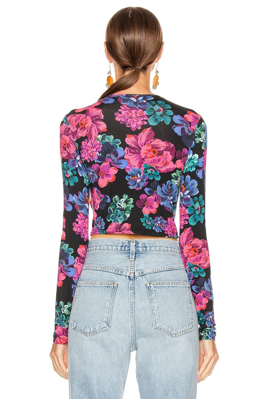 Image 3 of ANDAMANE Coco Crop Top in Floral Multi Black