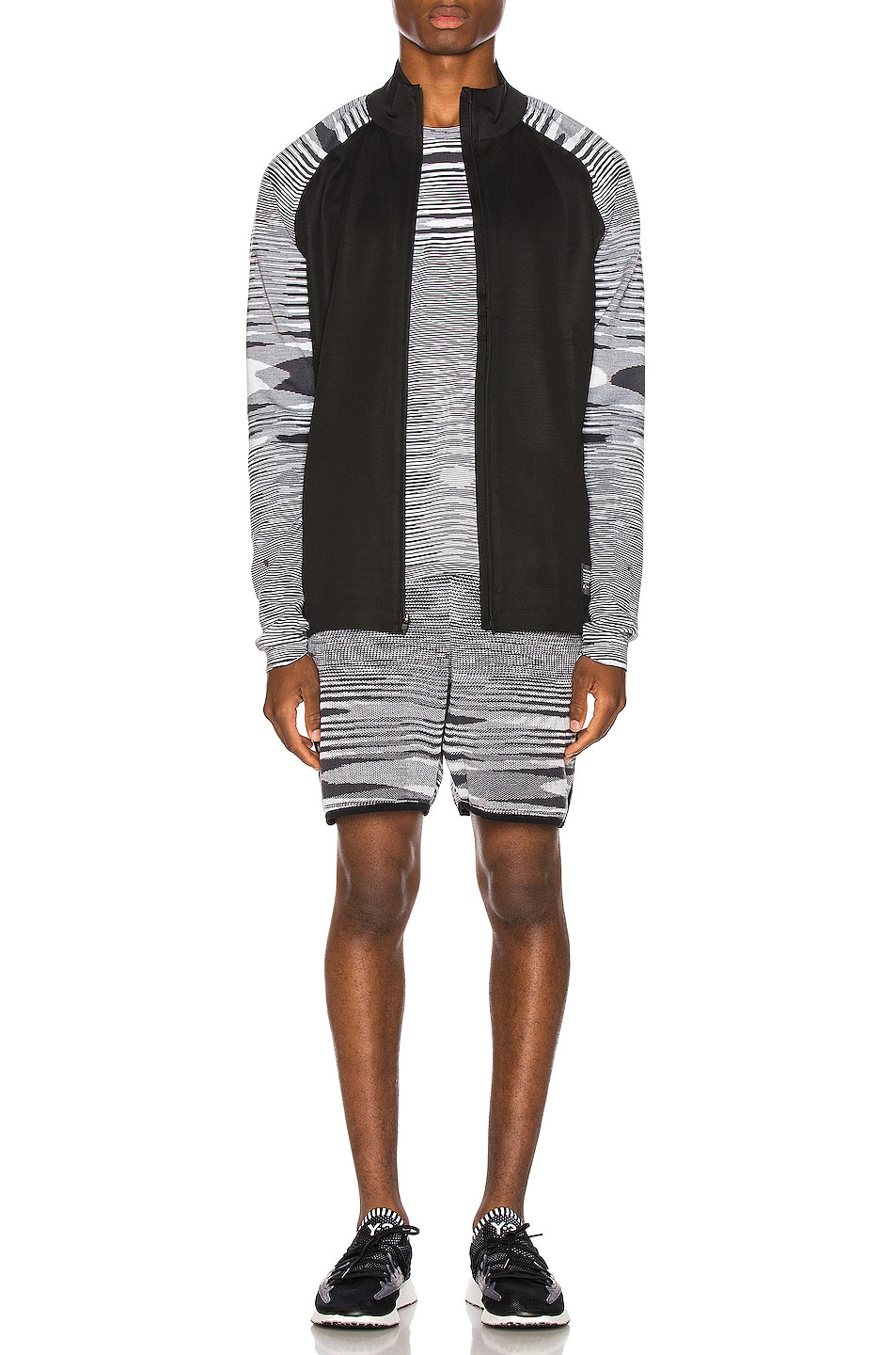 Image 5 of adidas by MISSONI PHX Jacket in Black & Grey & White