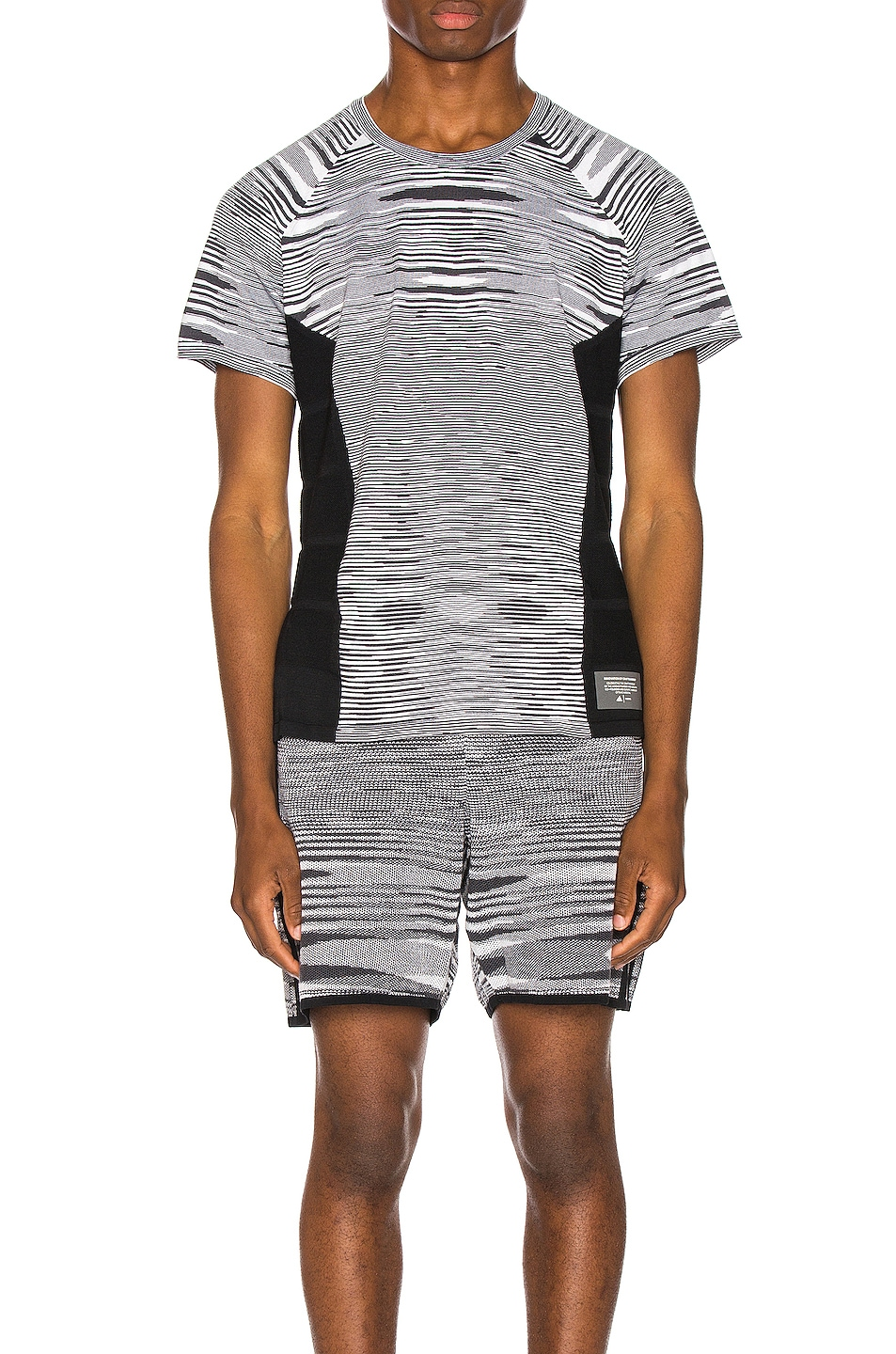 Image 1 of adidas by MISSONI City Runners Unite Tee in Black & Grey & White