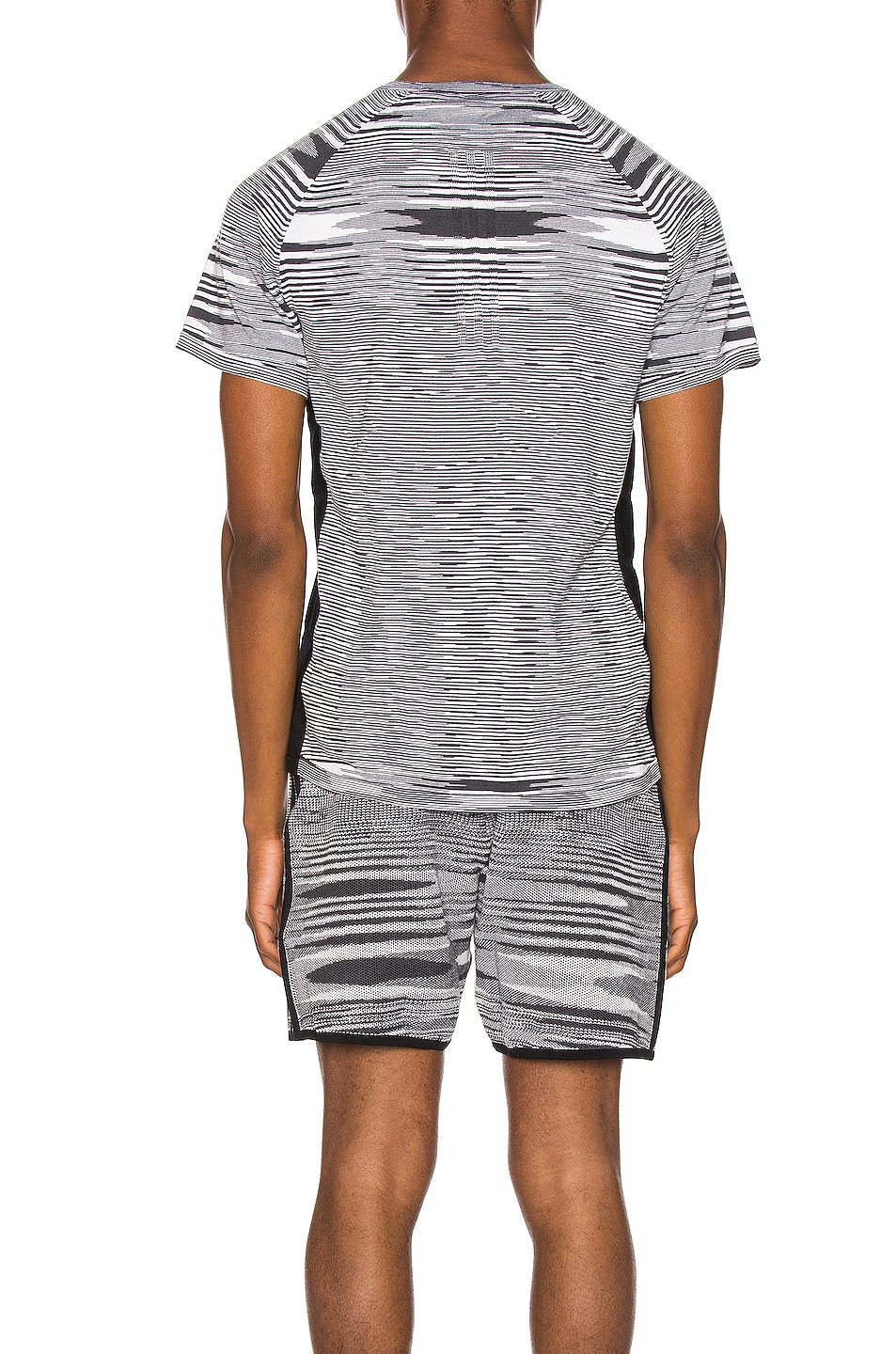 Image 3 of adidas by MISSONI City Runners Unite Tee in Black & Grey & White
