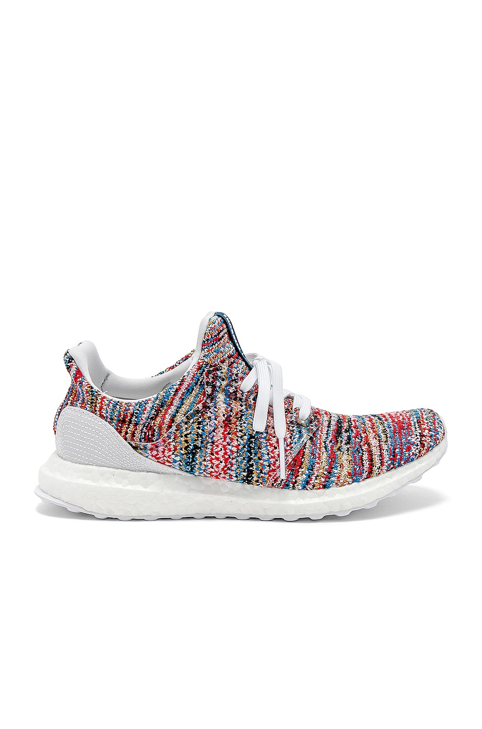 Image 1 of adidas by MISSONI Ultraboost Clima Sneaker in White & Cyan & Red