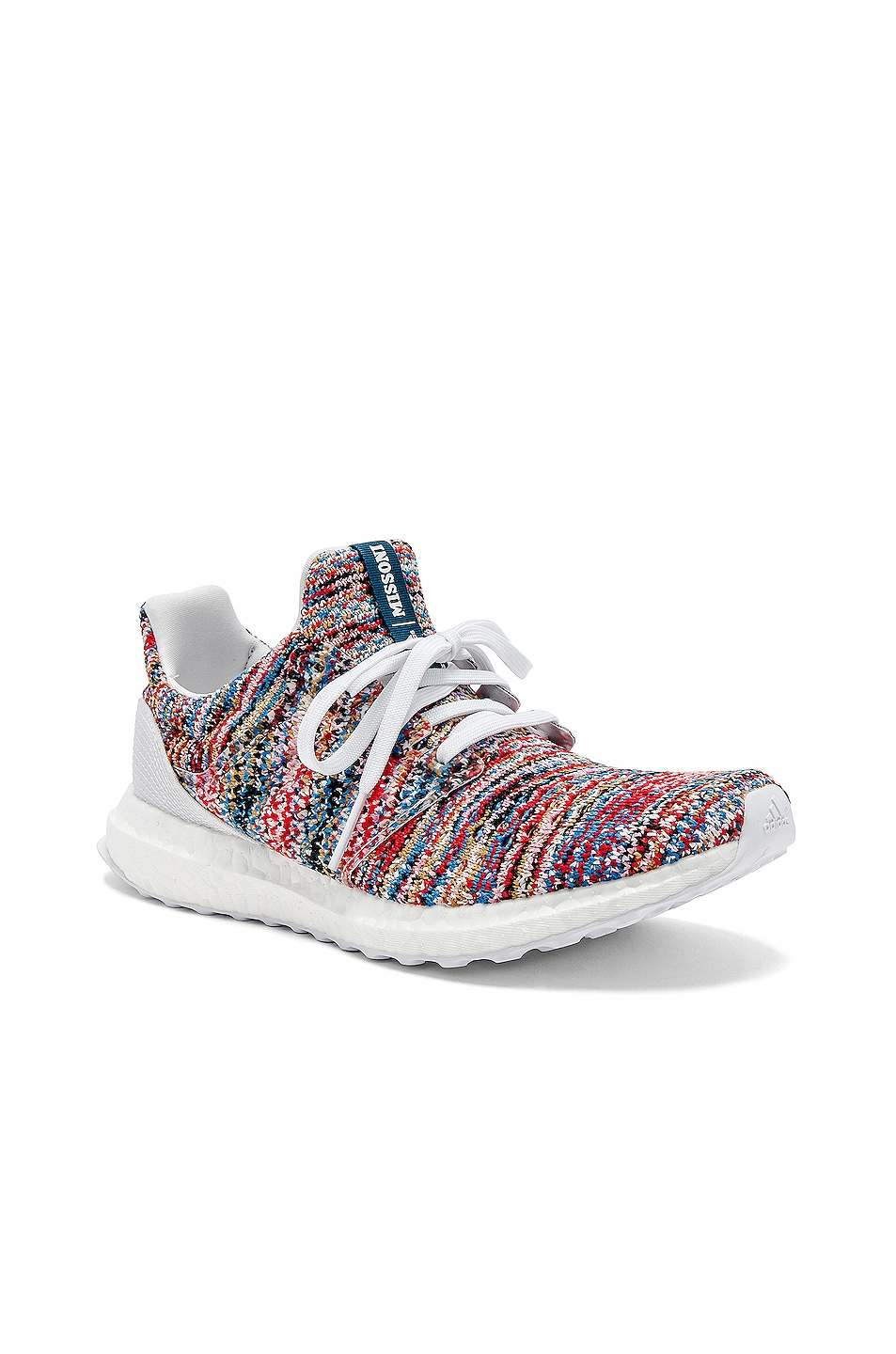 Image 2 of adidas by MISSONI Ultraboost Clima Sneaker in White & Cyan & Red