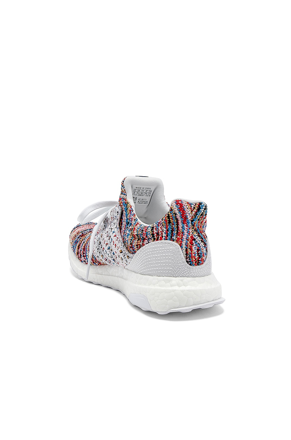 Image 3 of adidas by MISSONI Ultraboost Clima Sneaker in White & Cyan & Red