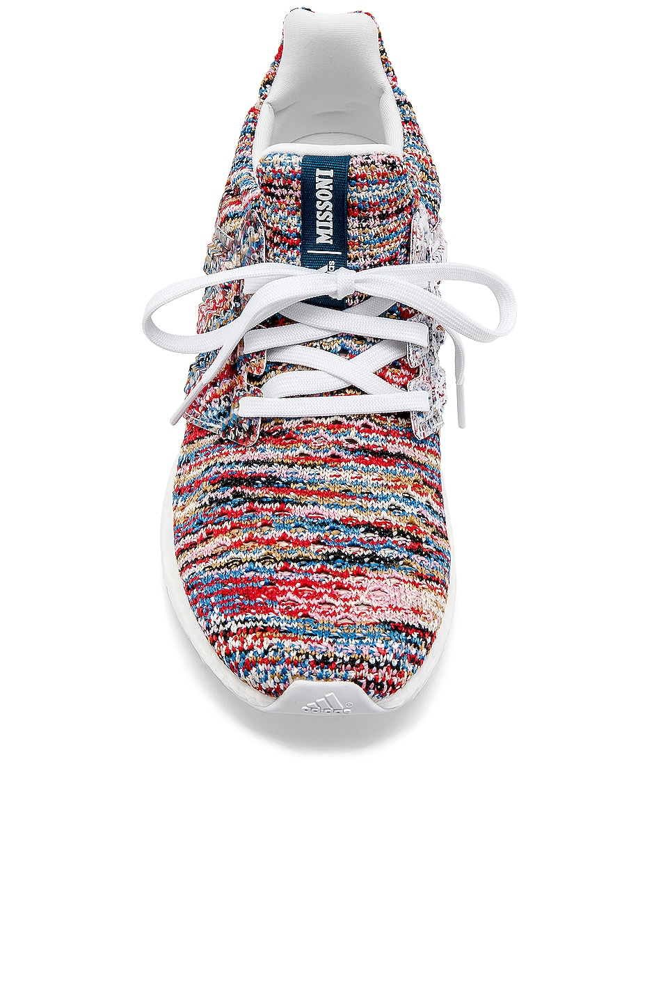 Image 4 of adidas by MISSONI Ultraboost Clima Sneaker in White & Cyan & Red