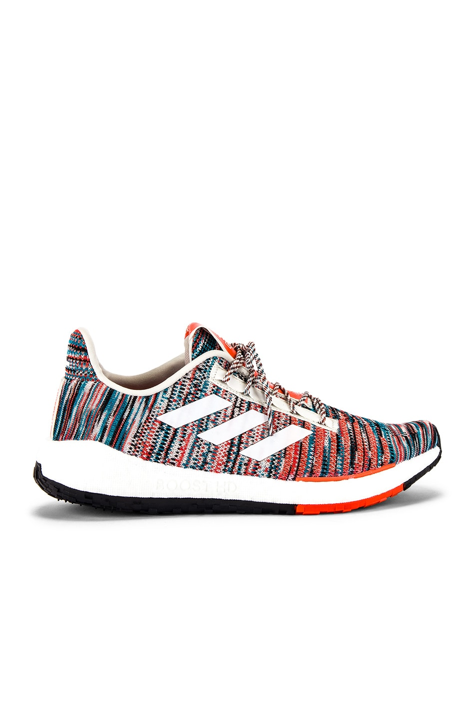 Image 2 of adidas by MISSONI Pulseboost HD in White & Active Orange