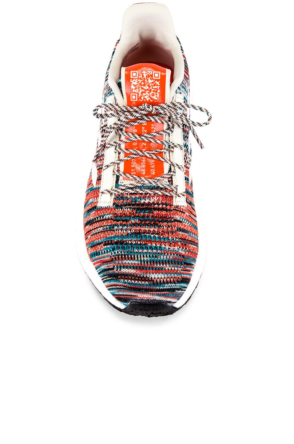 Image 4 of adidas by MISSONI Pulseboost HD in White & Active Orange