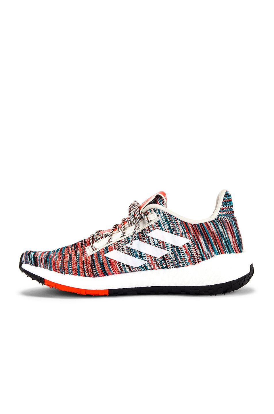Image 5 of adidas by MISSONI Pulseboost HD in White & Active Orange