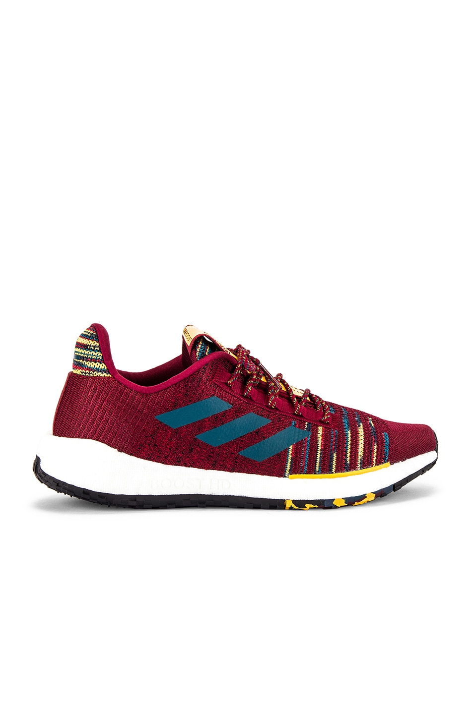 Image 1 of adidas by MISSONI Pulseboost HD in Collegiate Burgundy & Tech Mineral & Core Black