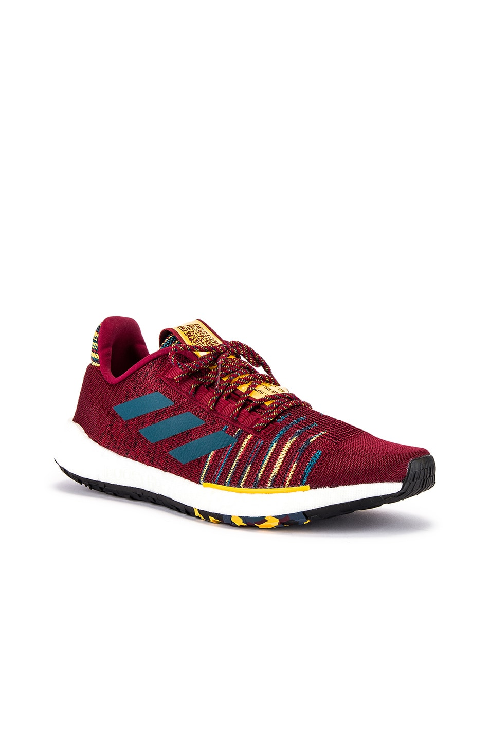 Image 2 of adidas by MISSONI Pulseboost HD in Collegiate Burgundy & Tech Mineral & Core Black