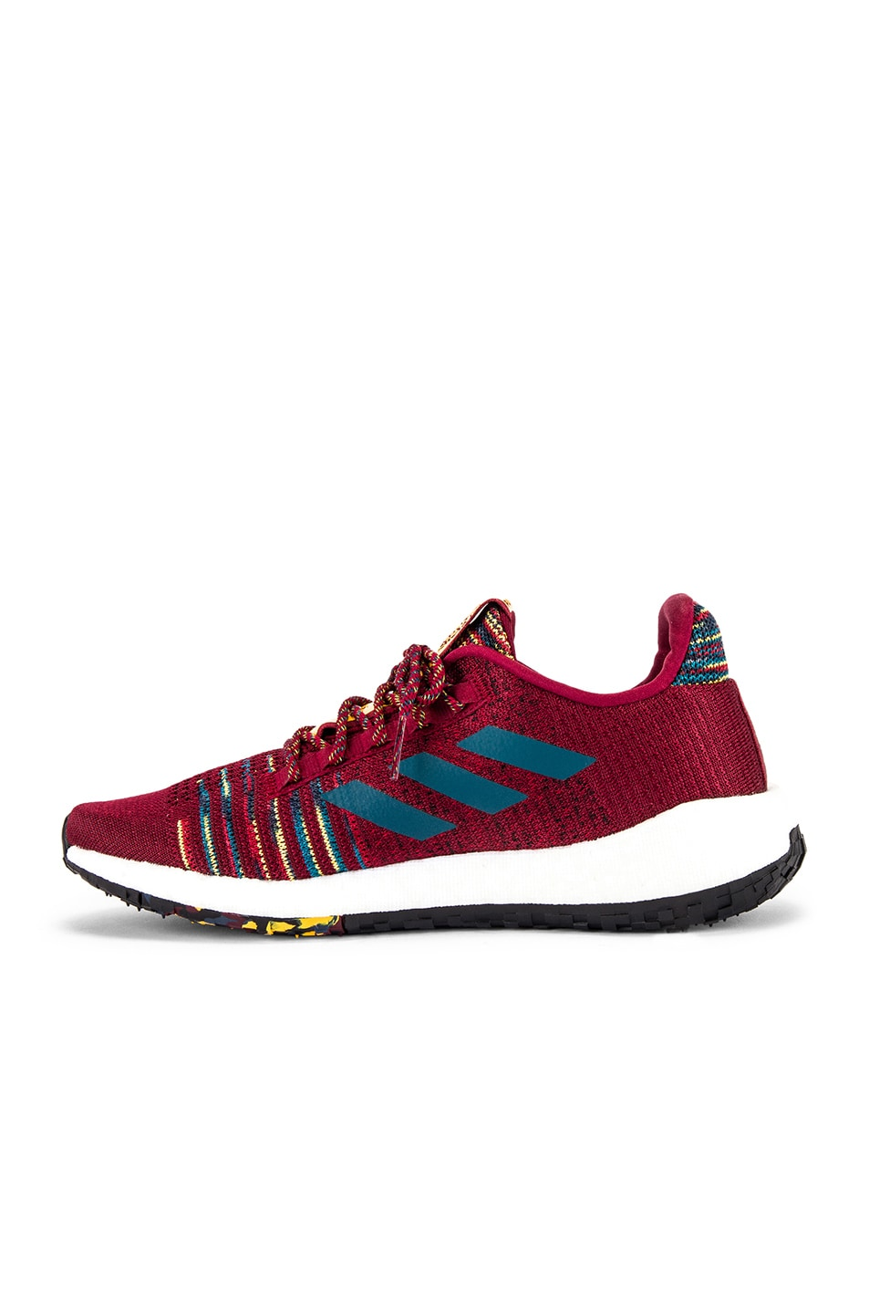Image 5 of adidas by MISSONI Pulseboost HD in Collegiate Burgundy & Tech Mineral & Core Black