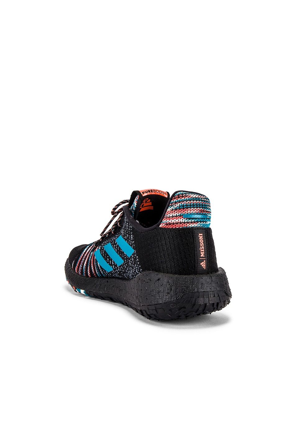 Image 3 of adidas by MISSONI Pulseboost HD in Black & White & Active Orange