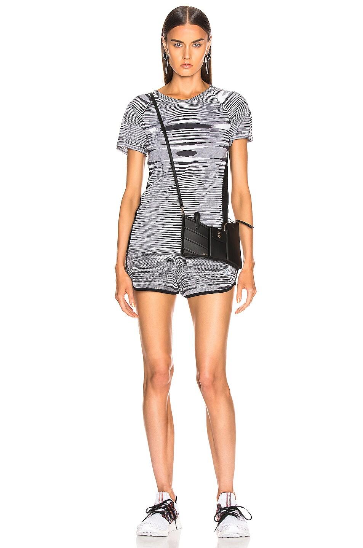Image 5 of adidas by MISSONI Marathon 20 Short in Black & Grey & White