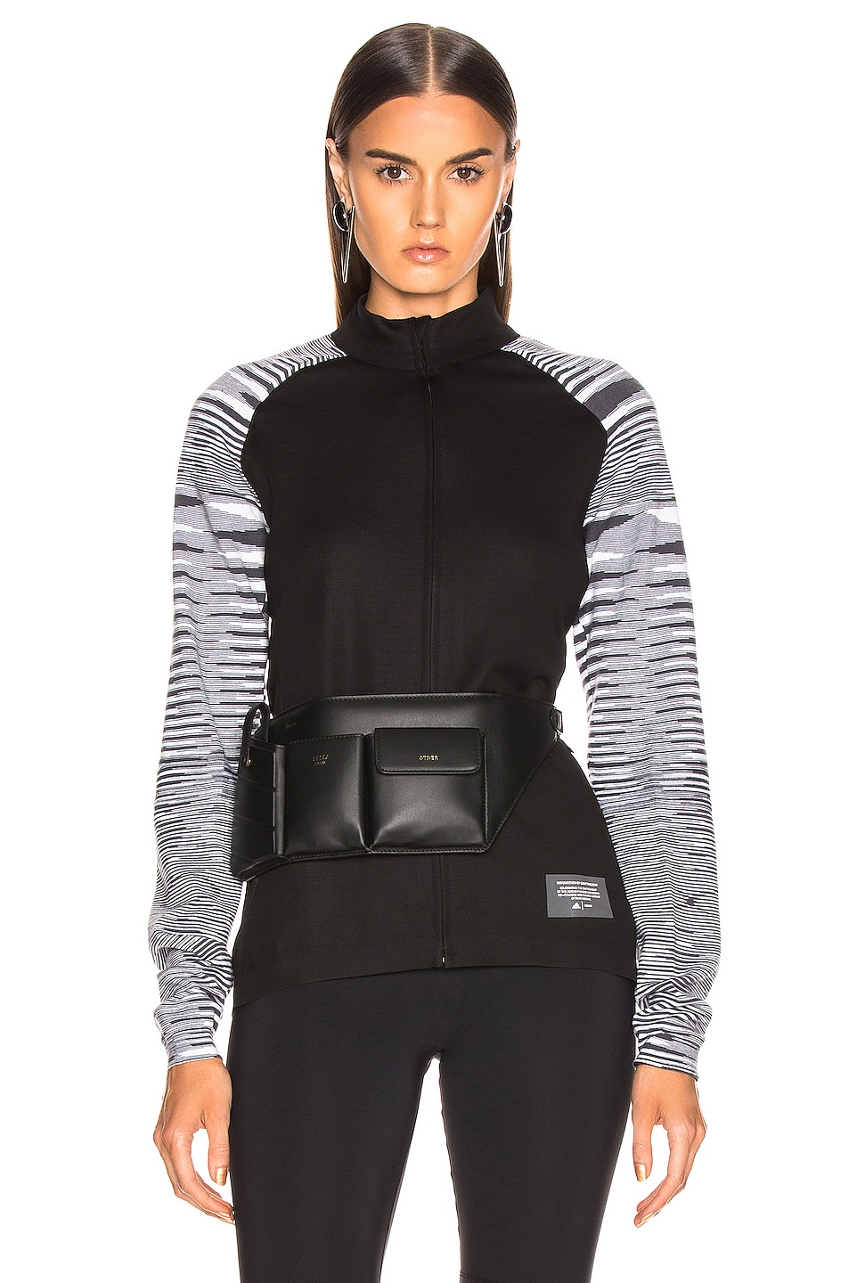 Image 1 of adidas by MISSONI PHX Jacket in Black & Grey & White
