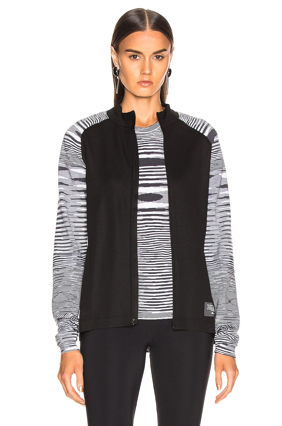 Image 2 of adidas by MISSONI PHX Jacket in Black & Grey & White