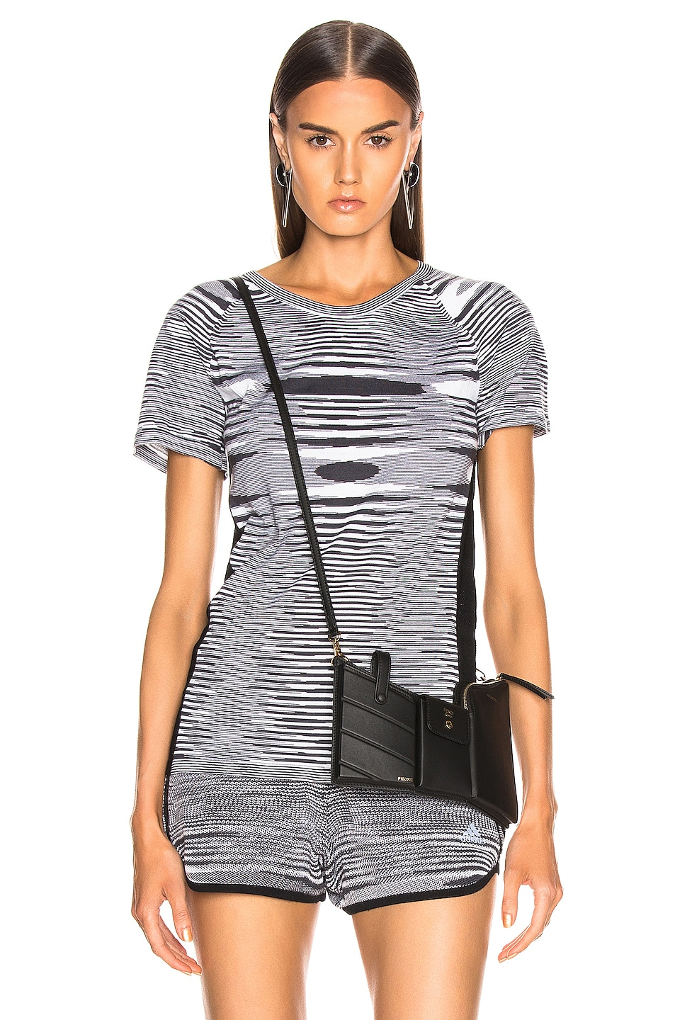 Image 1 of adidas by MISSONI Runners Unite Tee in Black & Grey & White