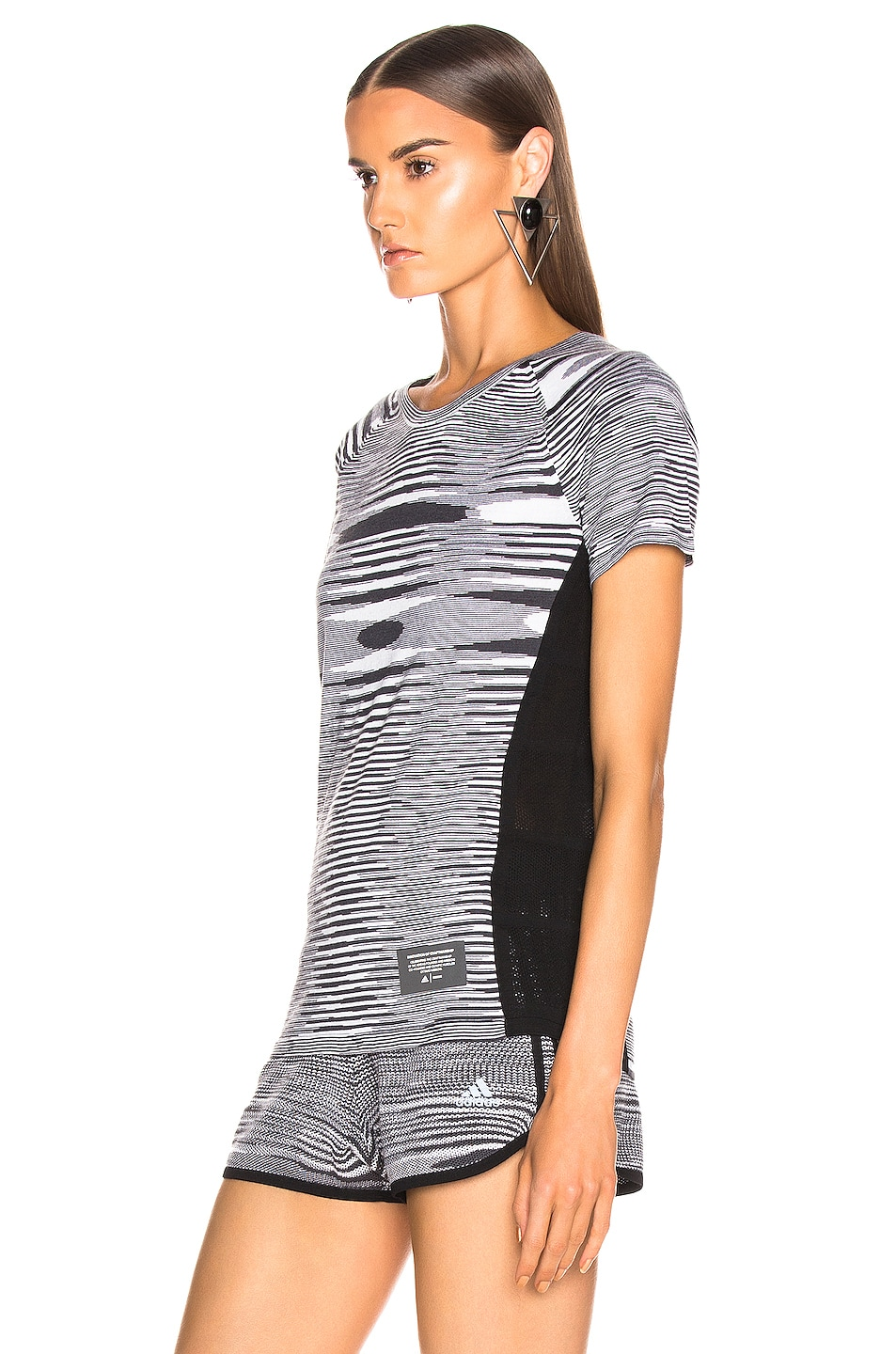 Image 3 of adidas by MISSONI Runners Unite Tee in Black & Grey & White