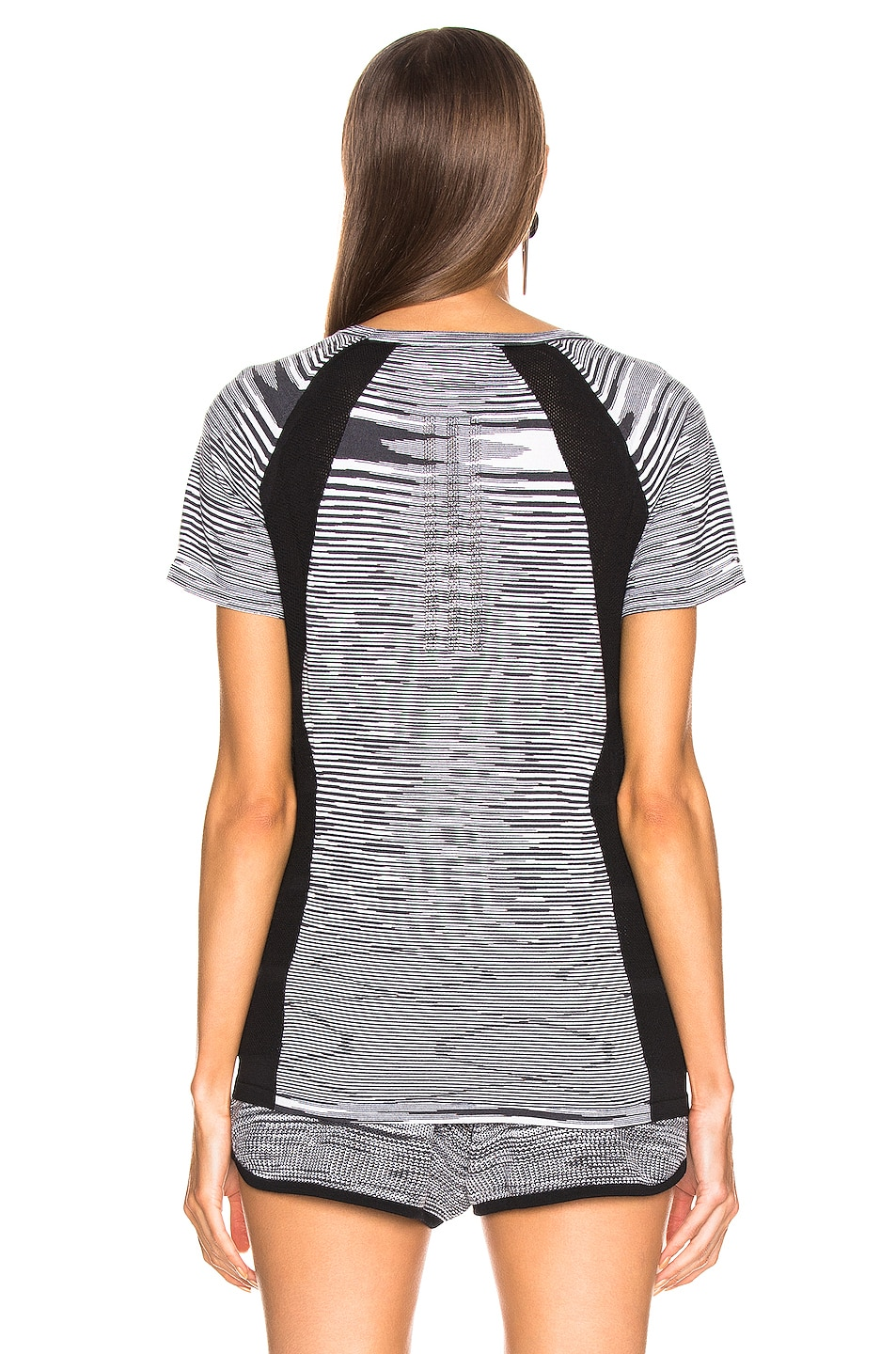 Image 4 of adidas by MISSONI Runners Unite Tee in Black & Grey & White