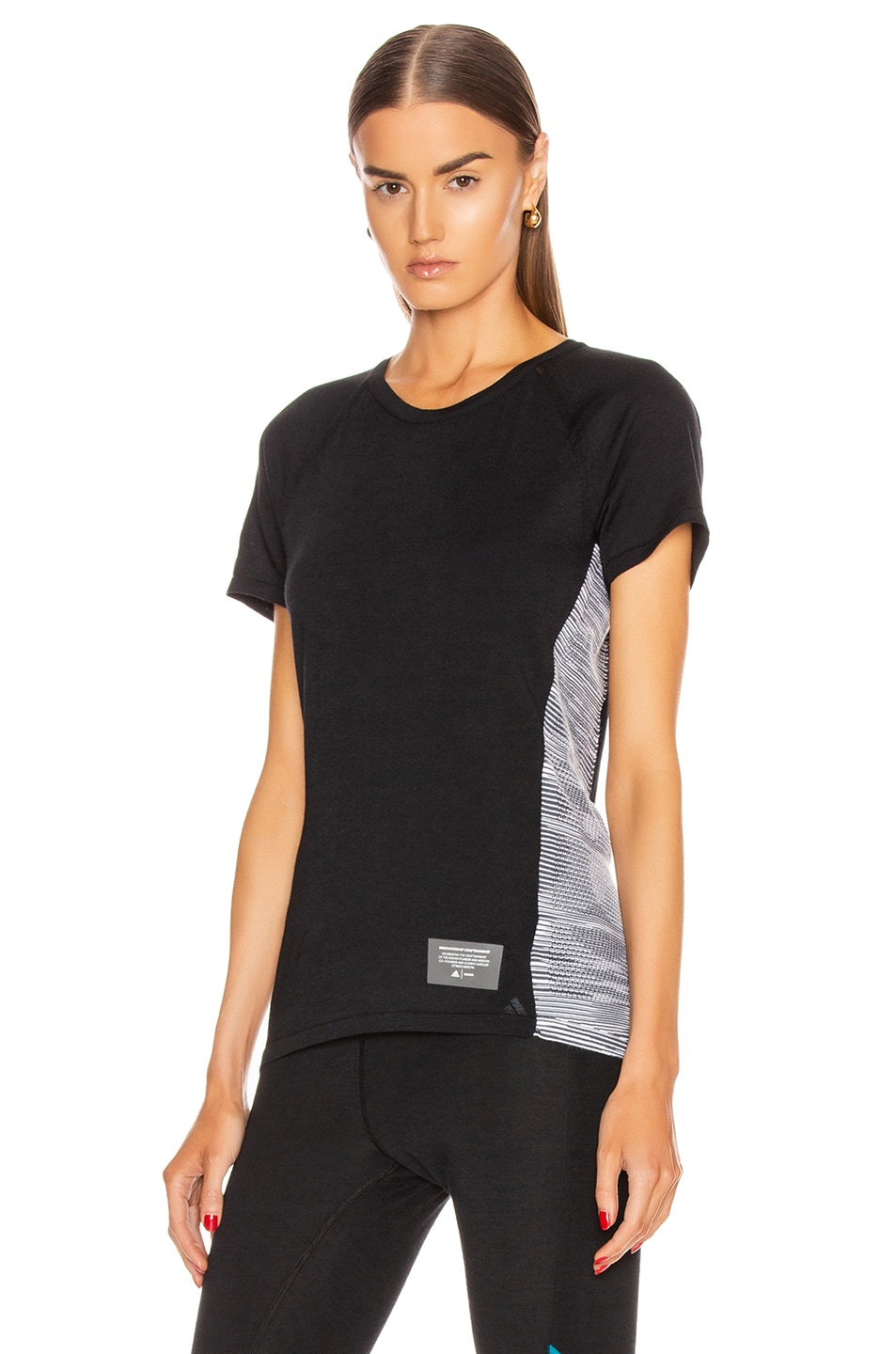 Image 1 of adidas by MISSONI C.R.U. Tee in Black & Dark Grey & White