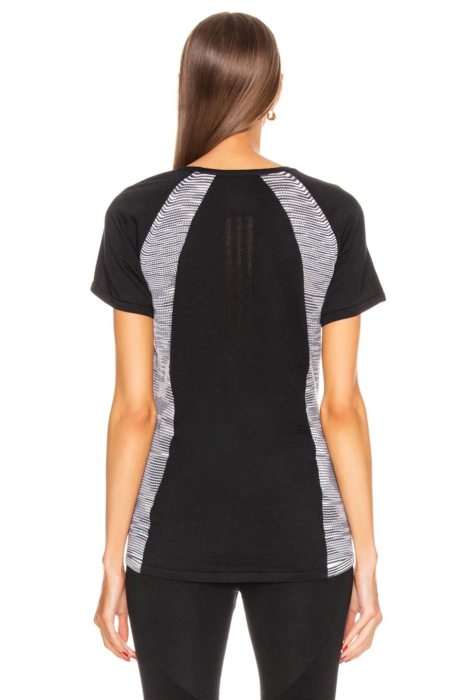 Image 4 of adidas by MISSONI C.R.U. Tee in Black & Dark Grey & White