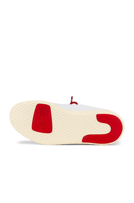 Image 6 of adidas x Pharrell Williams Tennis Hu Human Made in White & Scarlet & Cream White