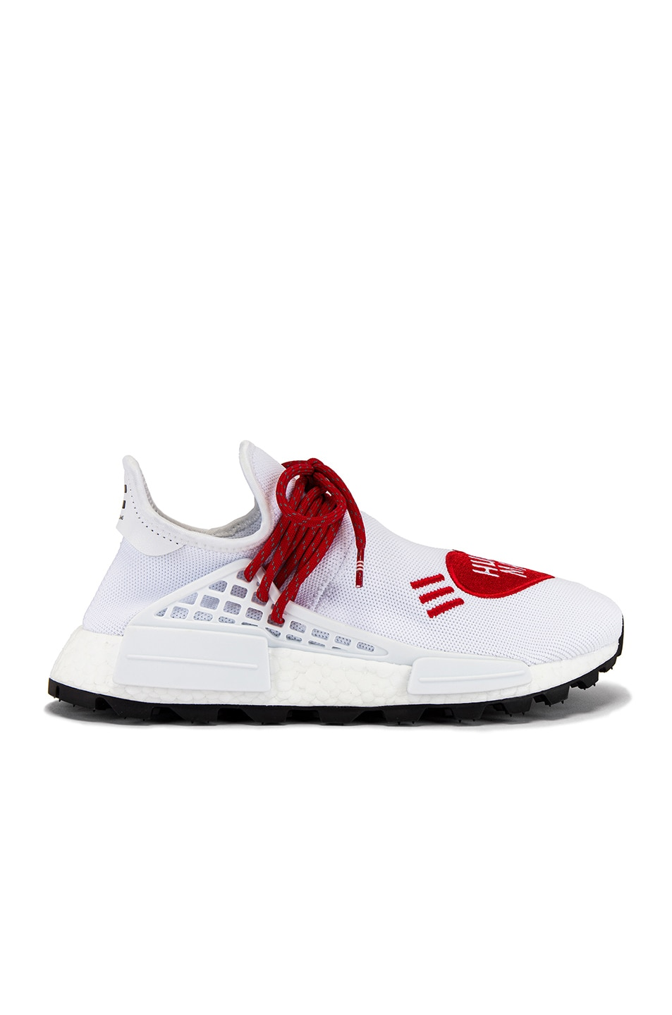 Image 2 of adidas x Pharrell Williams Hu NMD Human Made in White & Scarlet & Core Black
