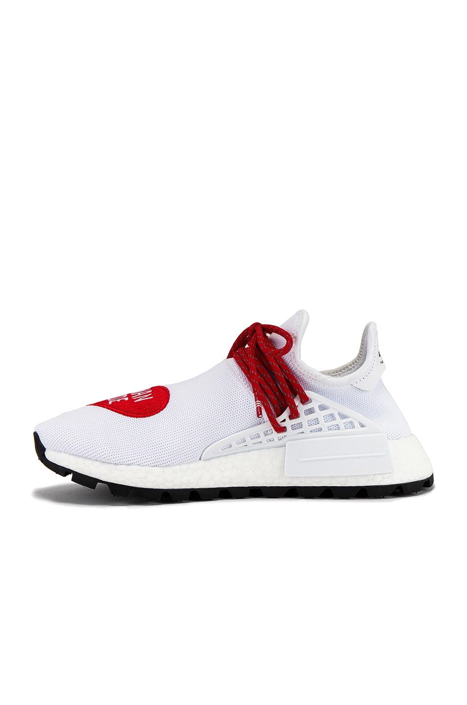 Image 5 of adidas x Pharrell Williams Hu NMD Human Made in White & Scarlet & Core Black