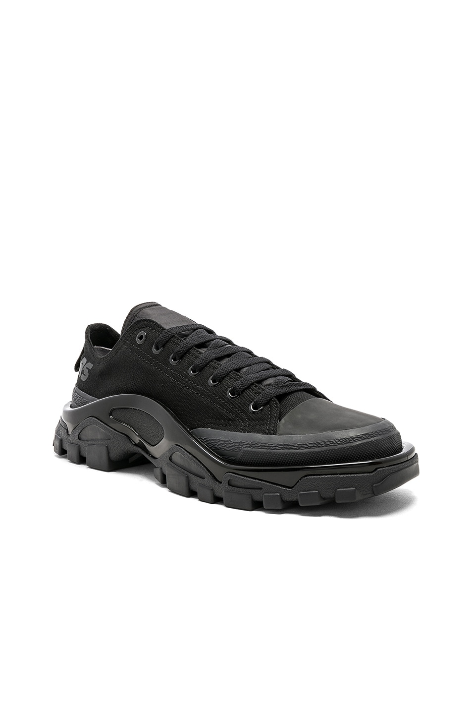23ed4496409 Image 1 of adidas by Raf Simons Detroit Runner in Core Black   Core Black
