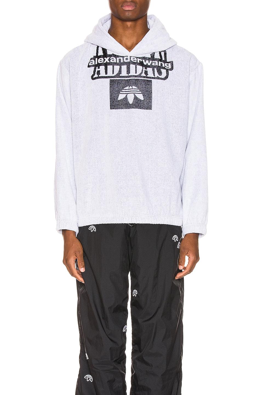 Image 1 of adidas by Alexander Wang Towel Hoodie in White