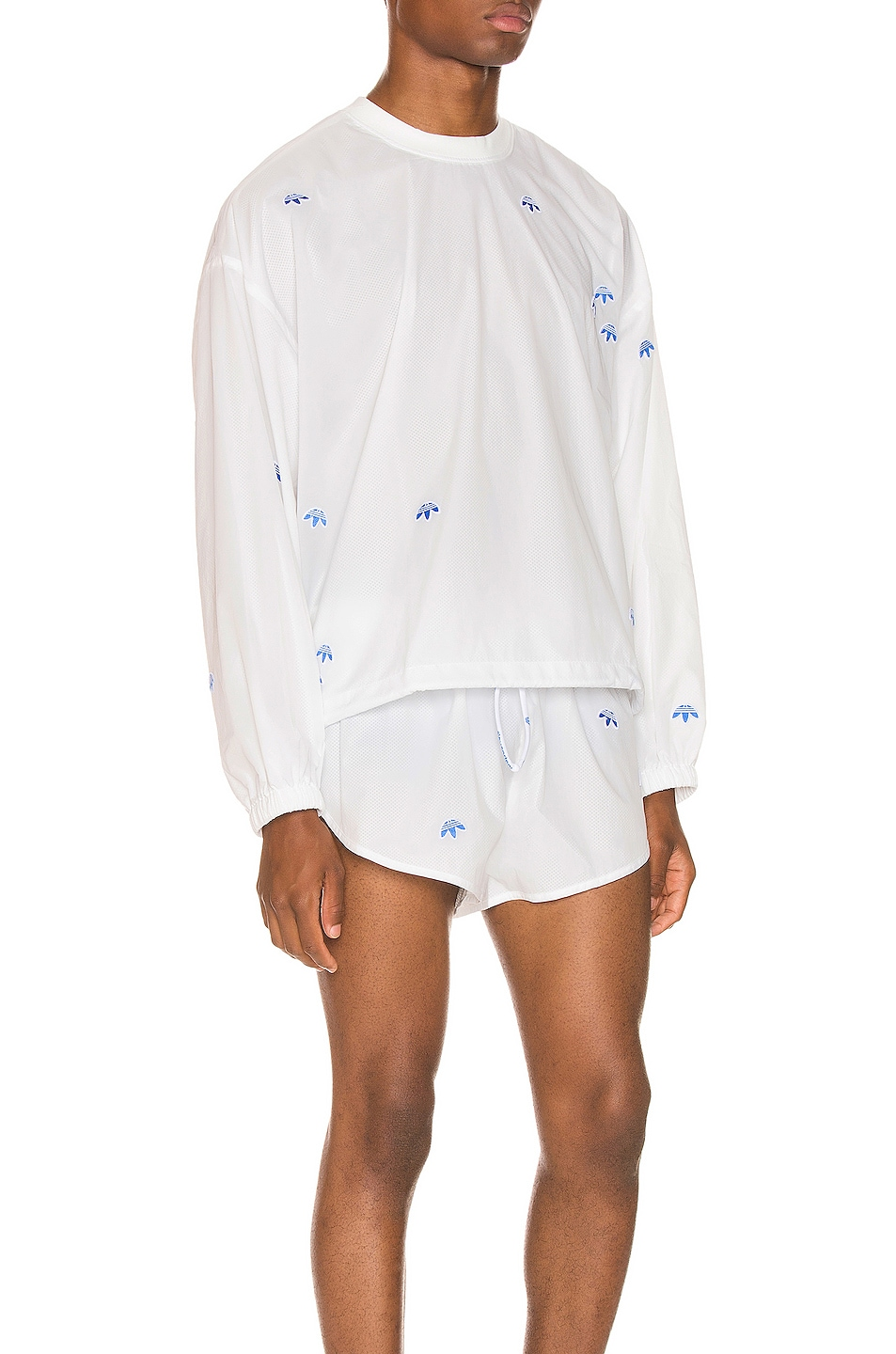 Image 2 of adidas by Alexander Wang Crewneck in Core White