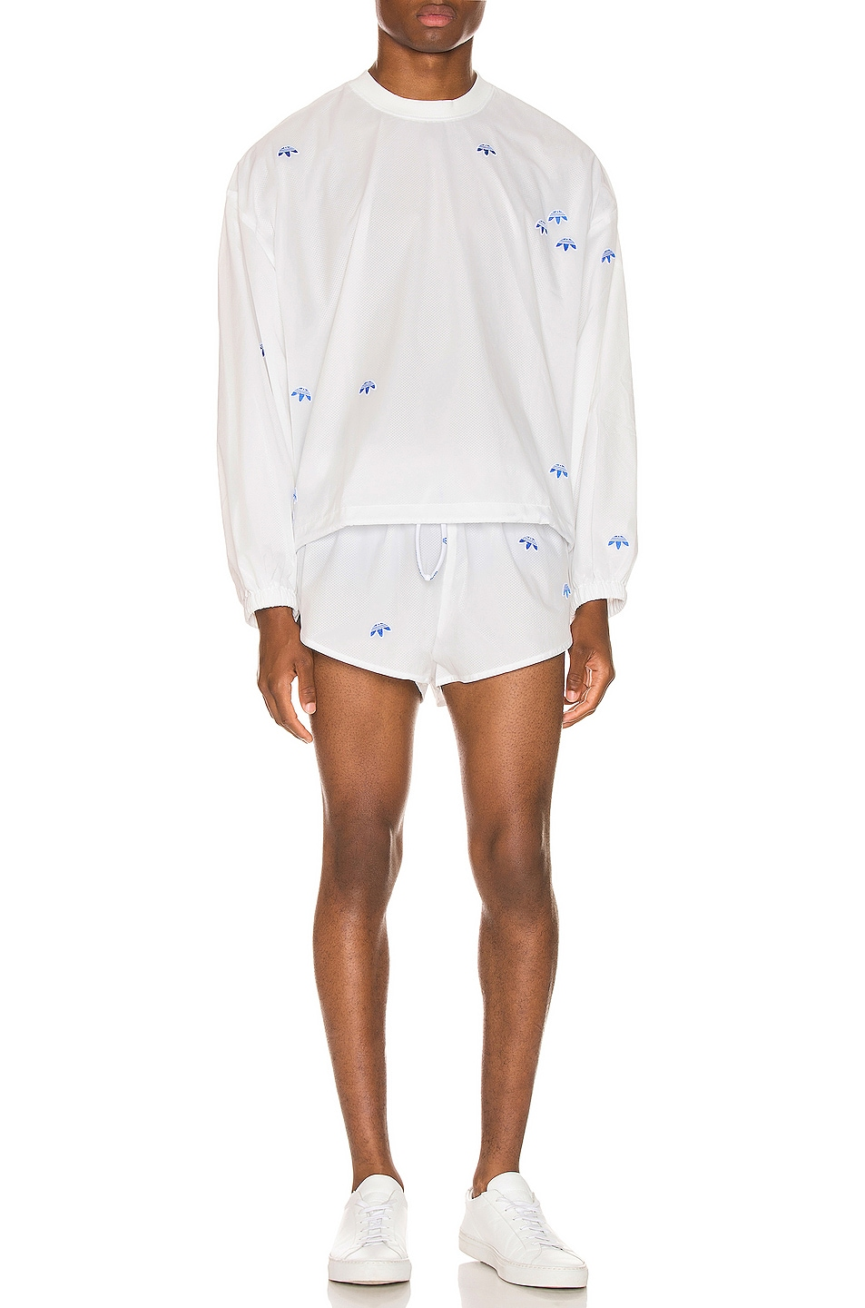 Image 4 of adidas by Alexander Wang Crewneck in Core White