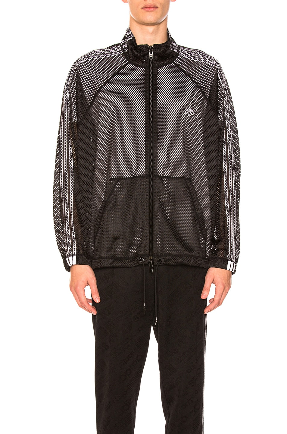 0ce1345e70b Image 1 of adidas by Alexander Wang Mesh Track Jacket in Black