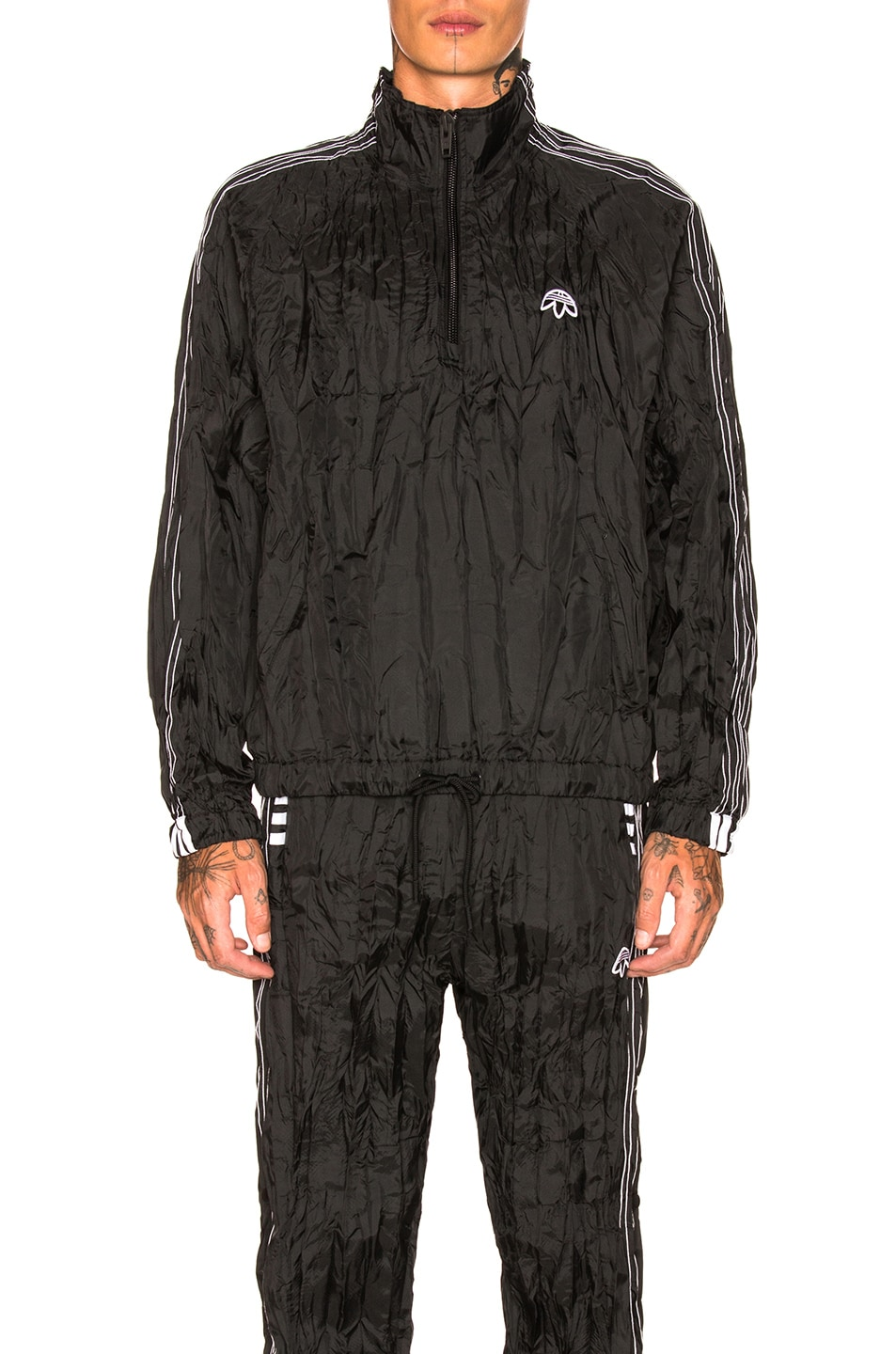 842acf696f Image 1 of adidas by Alexander Wang Windbreaker in Black   White