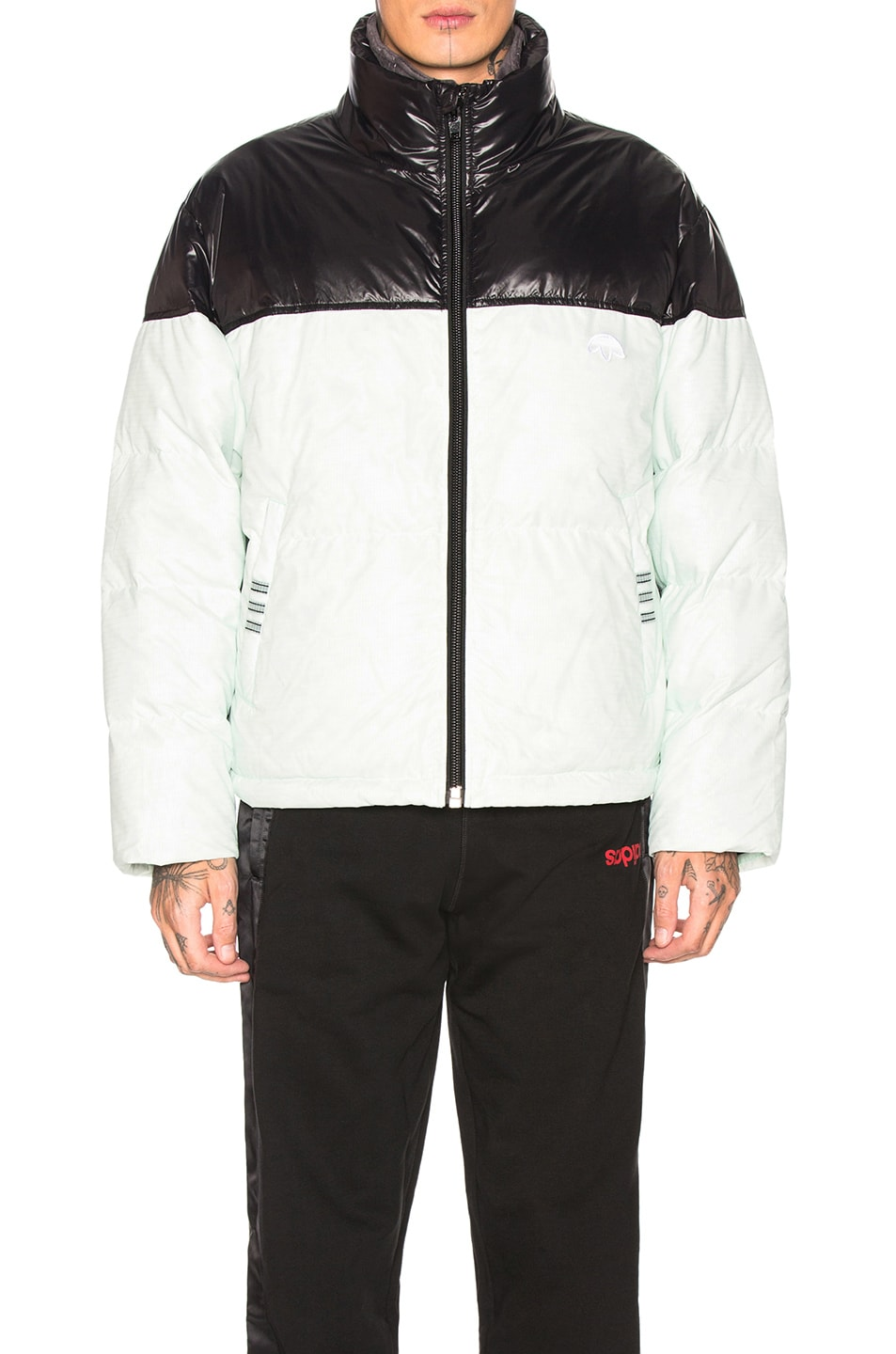 Image 2 of adidas by Alexander Wang Disjoin Puffer in Clear Mint & Black