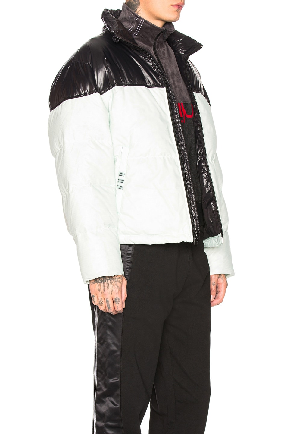 Image 3 of adidas by Alexander Wang Disjoin Puffer in Clear Mint & Black