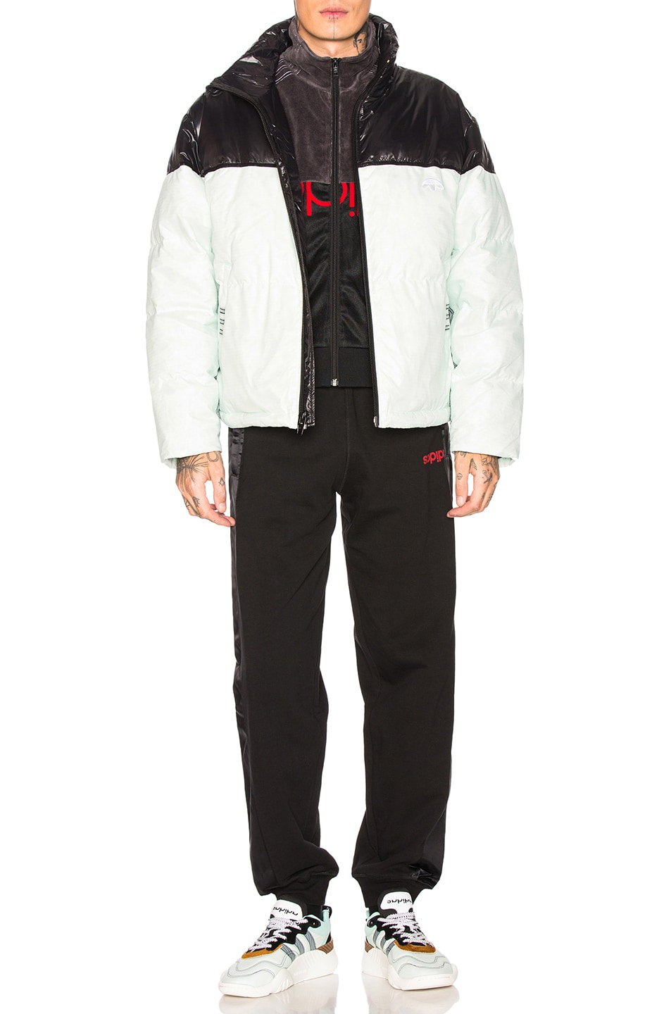Image 5 of adidas by Alexander Wang Disjoin Puffer in Clear Mint & Black