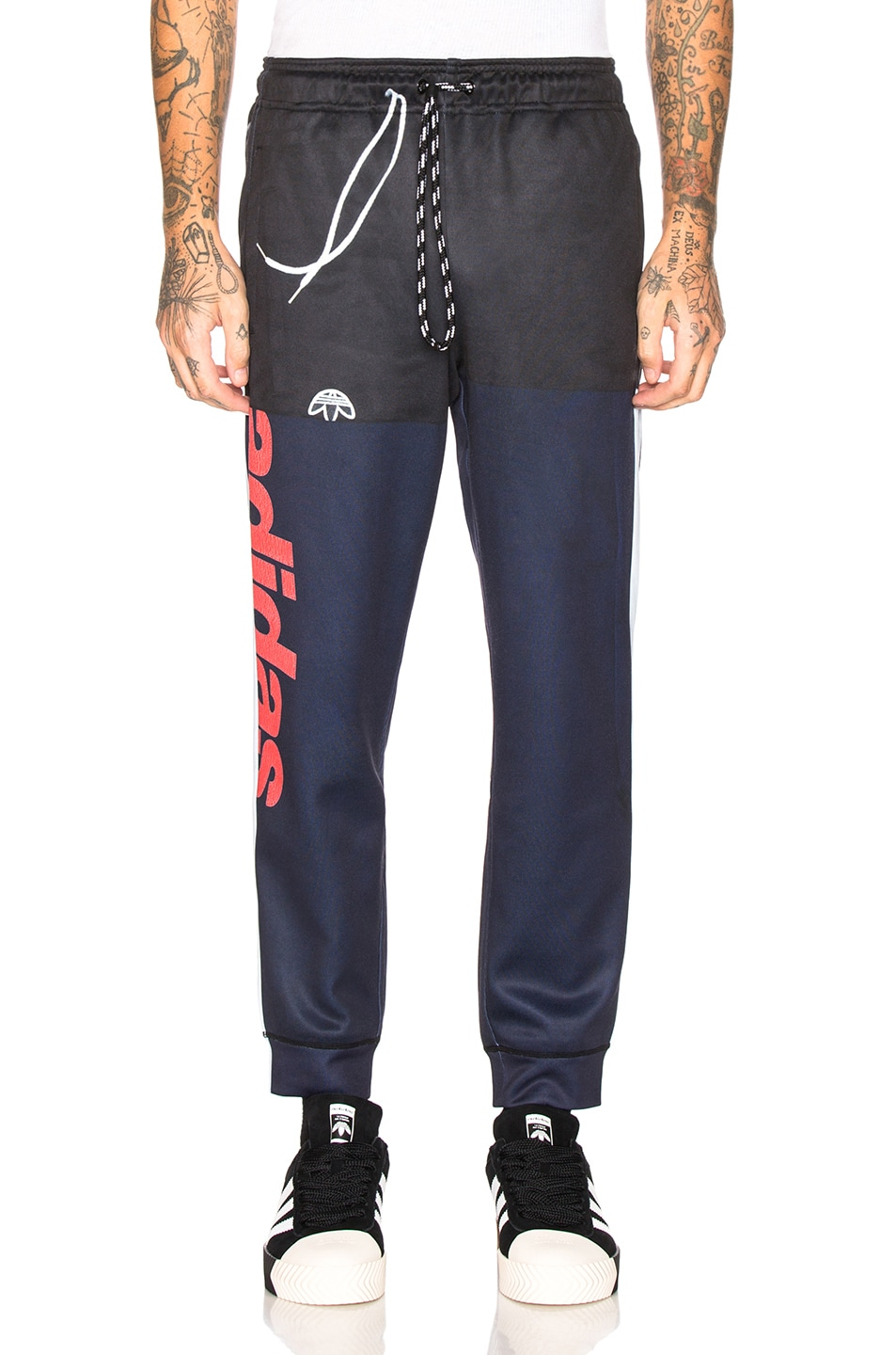 Image 2 of adidas by Alexander Wang Photocopy Track Pant in Legend Ink & Scarlet