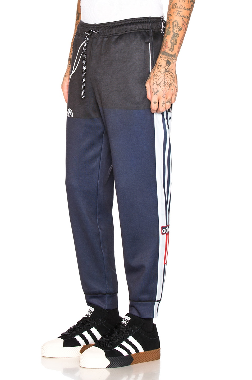 Image 3 of adidas by Alexander Wang Photocopy Track Pant in Legend Ink & Scarlet