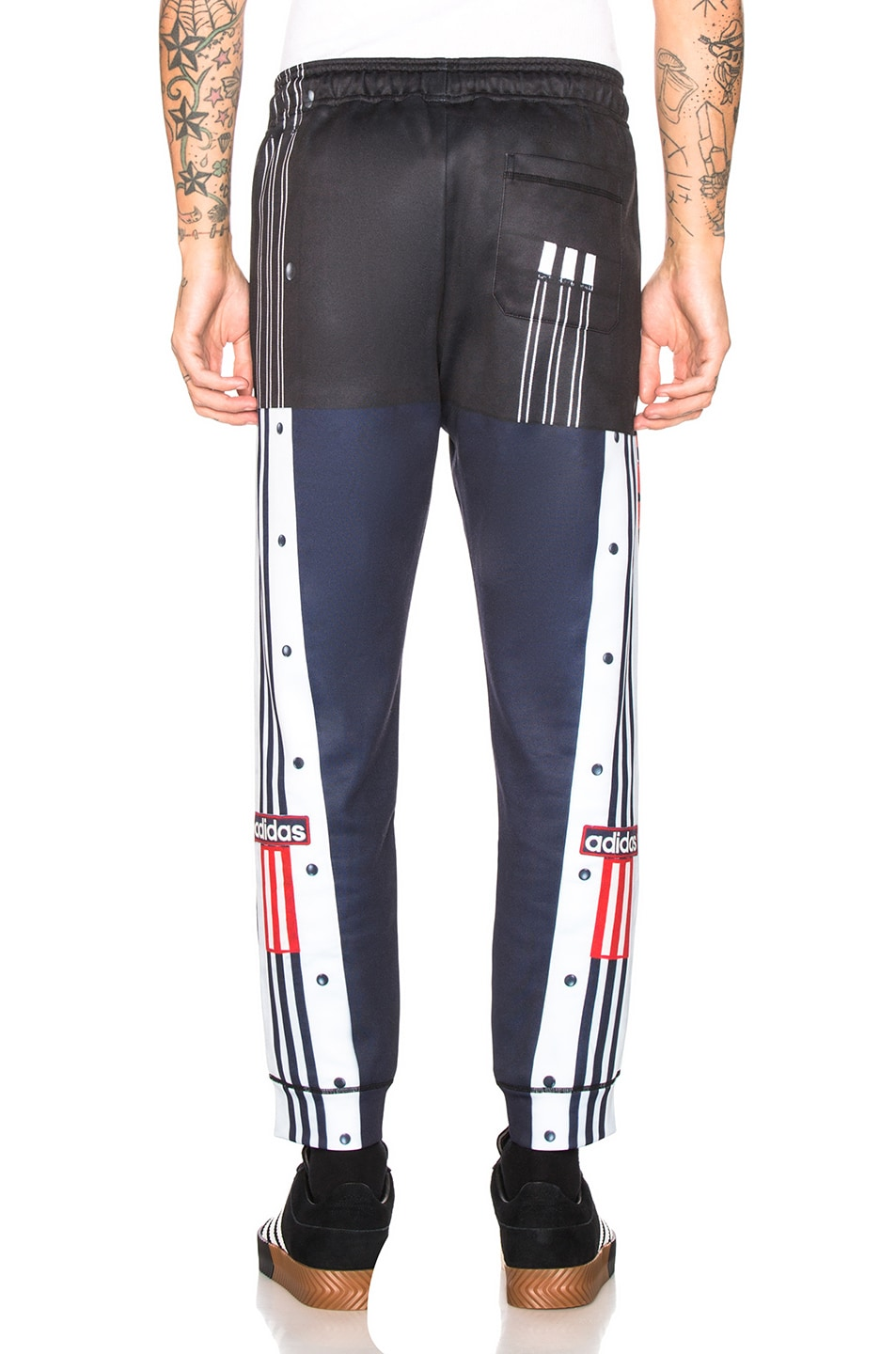 Image 4 of adidas by Alexander Wang Photocopy Track Pant in Legend Ink & Scarlet