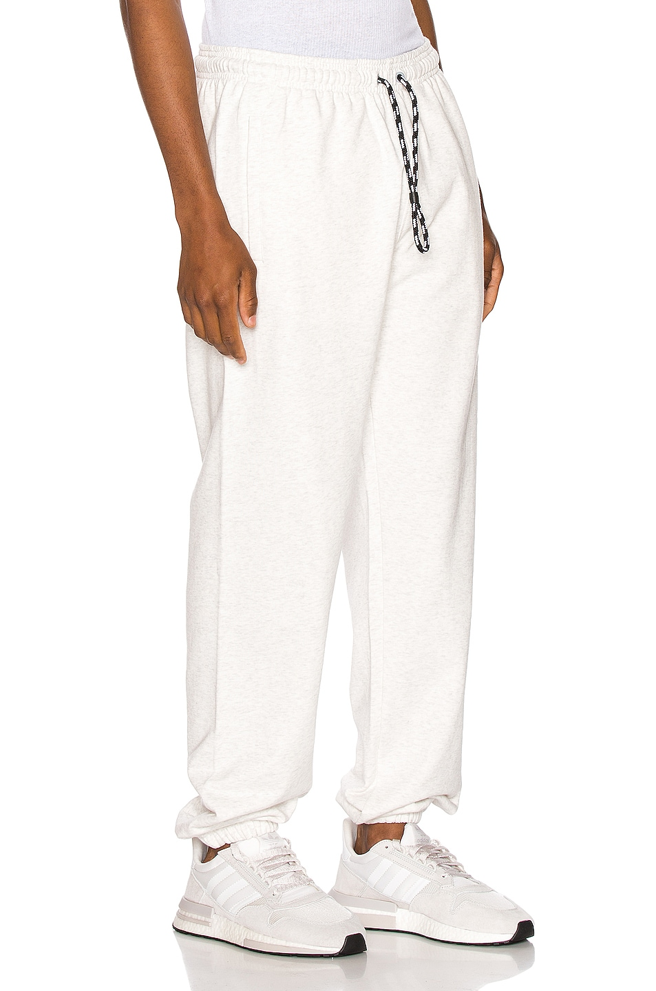 Image 3 of adidas by Alexander Wang Graphic Joggers in LGH