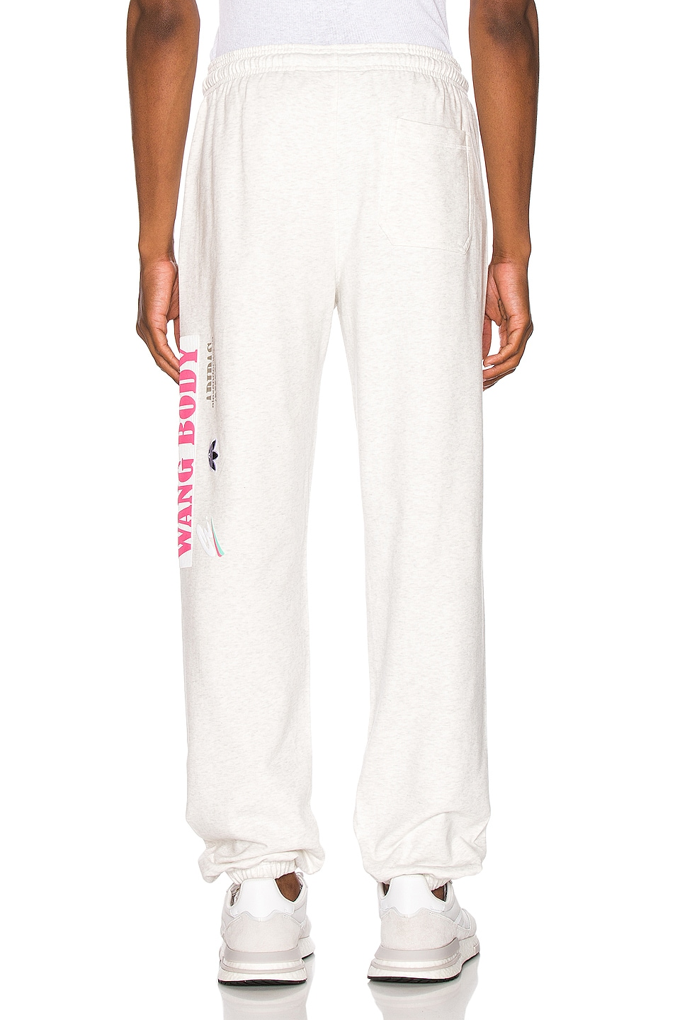 Image 4 of adidas by Alexander Wang Graphic Joggers in LGH