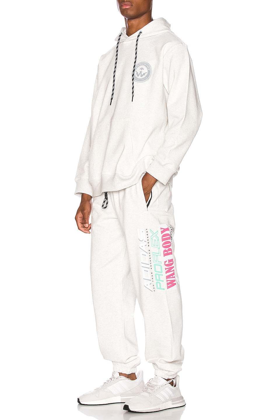Image 5 of adidas by Alexander Wang Graphic Joggers in LGH